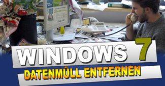Windows 7 Tipps Datenträgerbereinigung Unerwünschte Daten löschen Festplatte Aufräumen