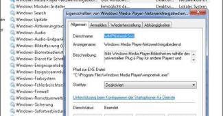 WINDOWS MEDIA PLAYER NETZWERKFREIGABEDIENST WMPNETWK.EXE IN WINDOWS 7