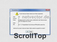 Die Eigenschaft scrollTop eines undefinierten oder Nullverweises kann nicht abgerufen werden