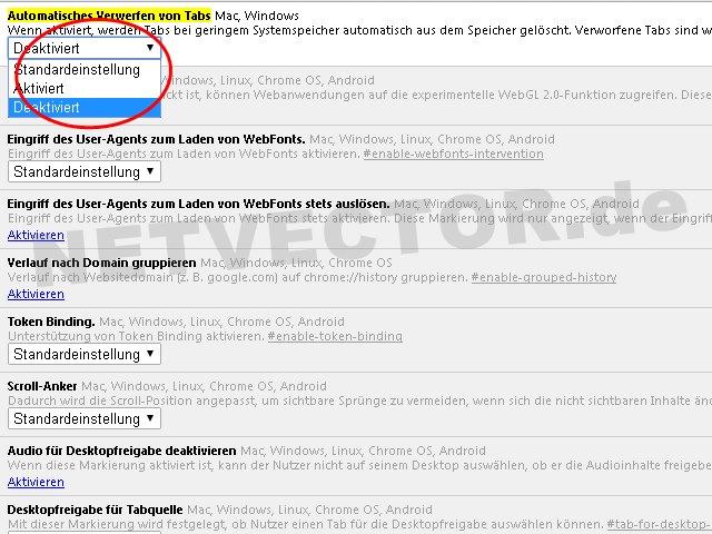 automatisches verwerfen von tabs webseiten google chrome lädt tabs ständig neu
