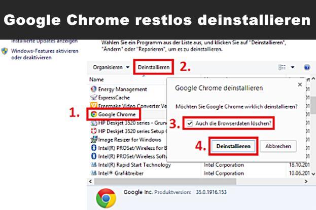 google chrome restlos deinstallieren windows 7 8 löschen
