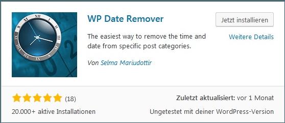 Wordpress Autor und Datum entfernen. Meta Daten ausblenden WP Date Remover