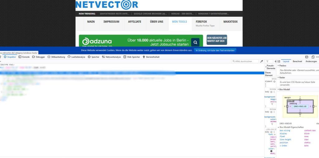 Bilder einer Webseite manuell Downloaden