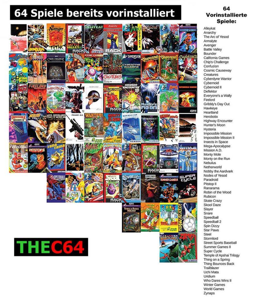 Retro Games Ltd bringt Computerlegende C64 zurück mit 64 Spielen