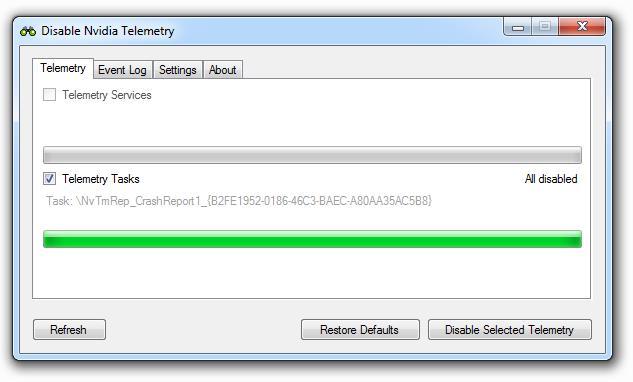 nvcontainer.exe beenden und Dienst deaktivieren Disable  Nvidia Telemetry by Nateshoffner Download